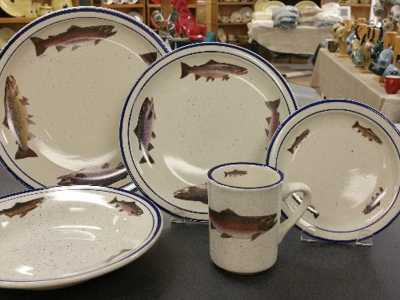 Blue Speckled Dinnerware