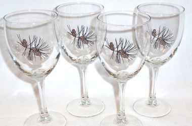 Pine Cone Wine Glasses